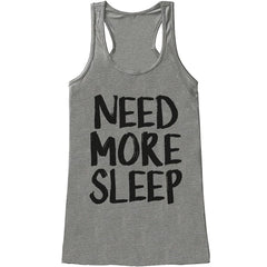 7 ate 9 Apparel Womens Need More Sleep Funny Tank Top