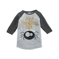 7 ate 9 Apparel Youth Just Hanging Out Halloween Shirt