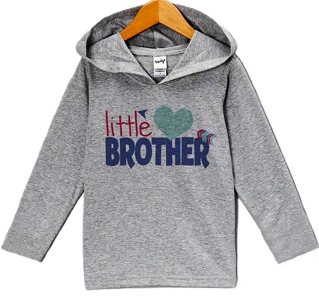 7 ate 9 Apparel Baby's Little Brother Valentine's Day Hoodie