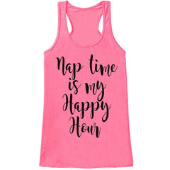 7 ate 9 Apparel Womens Nap Time Is My Happy Hour Mother's Day Tank Top