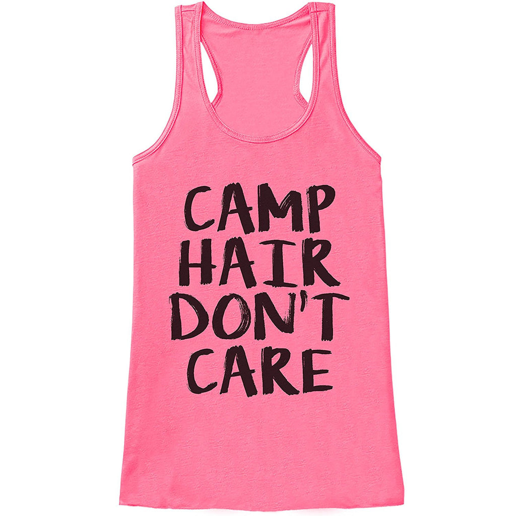 7 ate 9 Apparel Ladies Camp Hair Don't Care Outdoors Tank Top