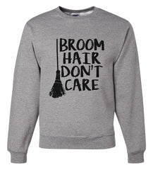 7 ate 9 Apparel Men's Broom Hair Halloween Sweatshirt