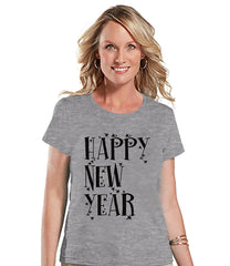 7 at 9 Apparel Women's Happy New Year's T-shirt
