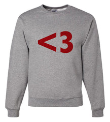 7 ate 9 Apparel Unisex <3 Red Heart Valentine's Day Sweatshirt