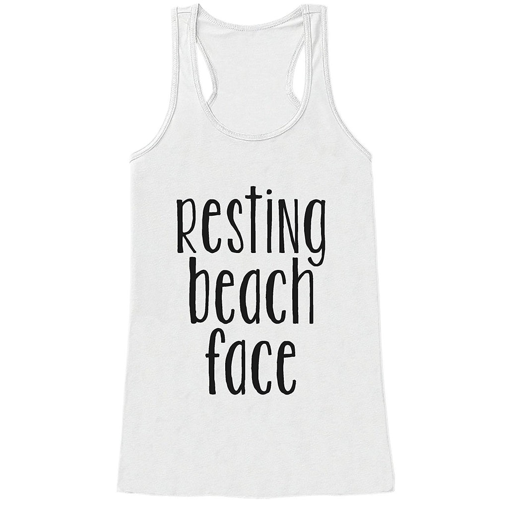 7 ate 9 Apparel Ladies Beach Face Summer Tank Top