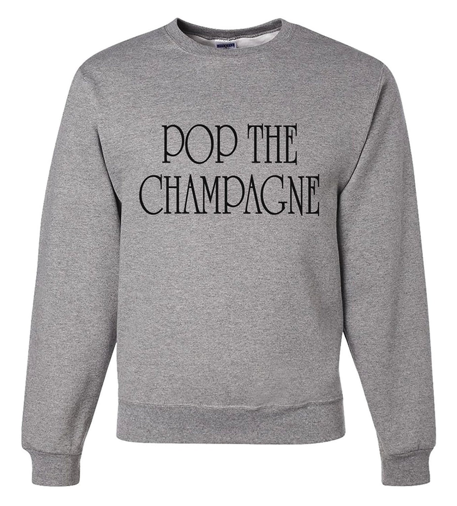 7 ate 9 Apparel Unisex Pop The Champagne New Years Sweatshirt