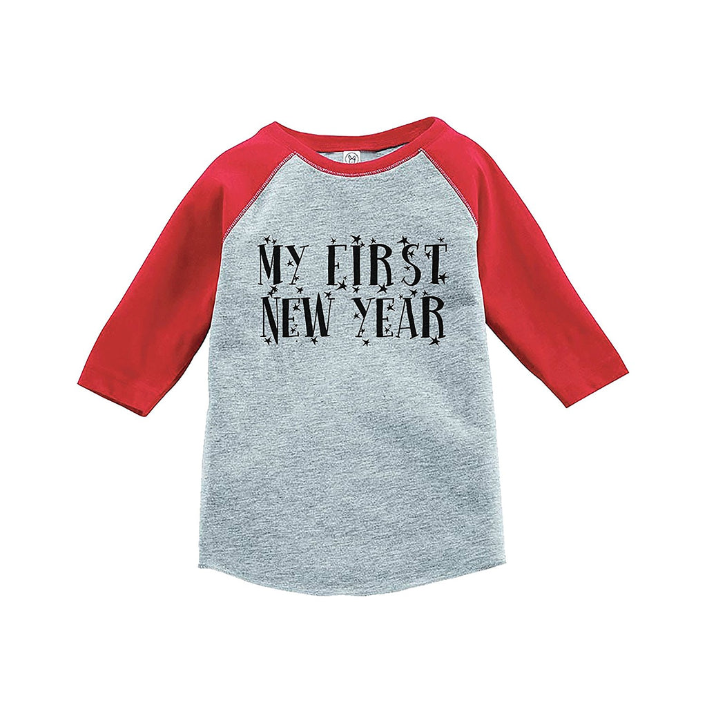7 ate 9 Apparel Kids First New Year's Eve Red Baseball Tee