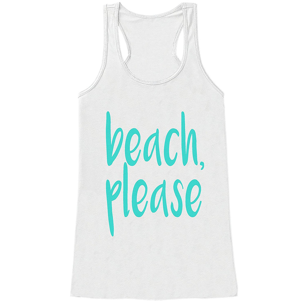 7 ate 9 Apparel Ladies Beach Please Summer Tank Top