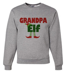 7 ate 9 Apparel Mens Grandpa Elf Christmas Sweatshirt