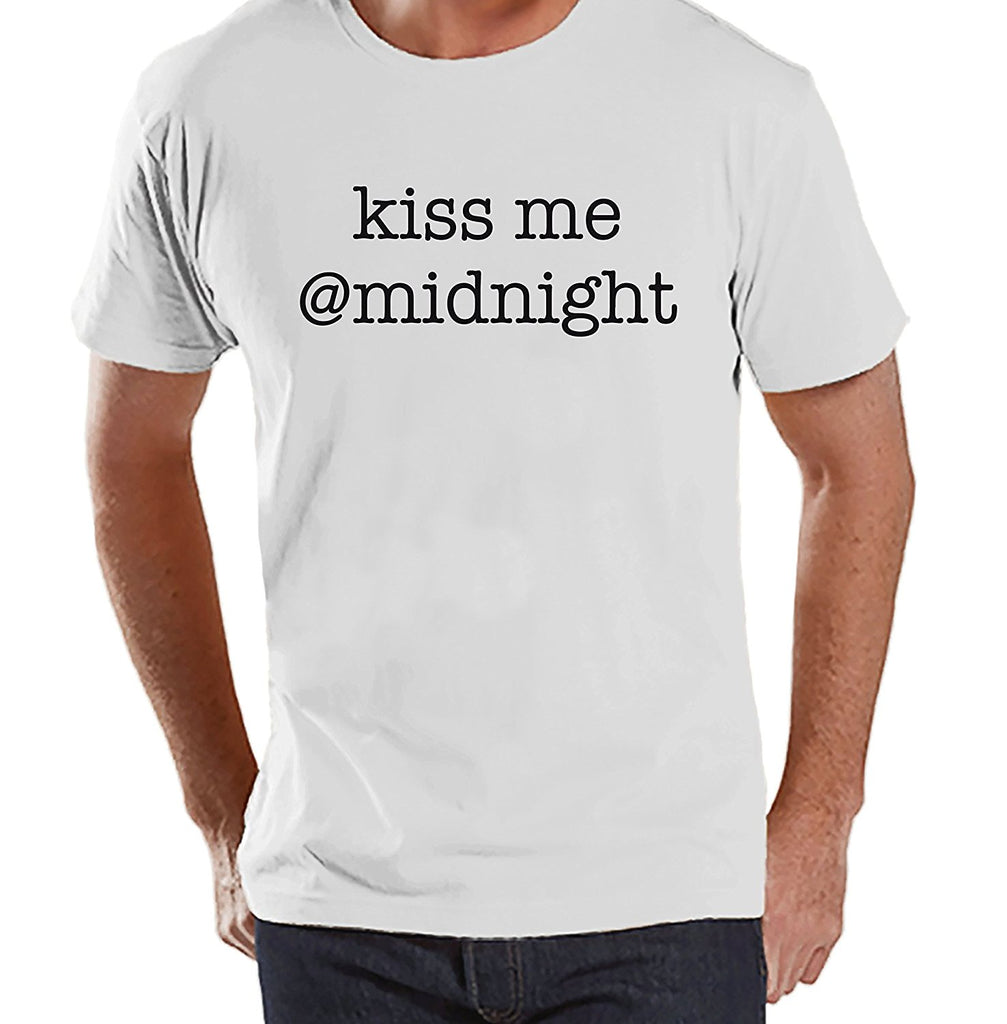 Kiss Me @ Midnight - Men's White T-shirt