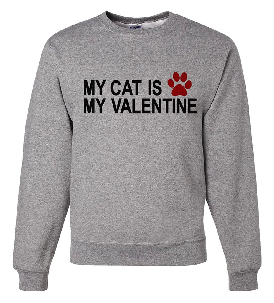7 ate 9 Apparel Unisex Cat Funny Valentine's Day Sweatshirt