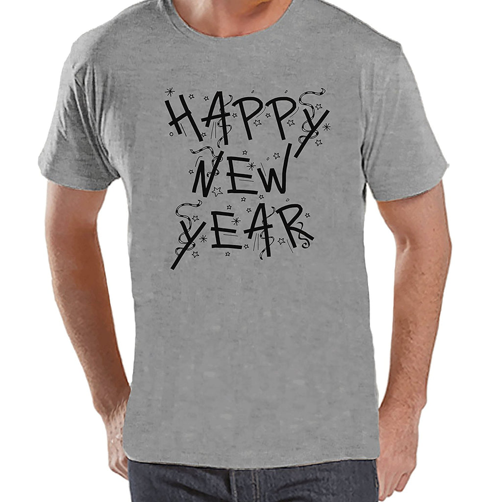 7 at 9 Apparel Men's Happy New Year's T-shirt