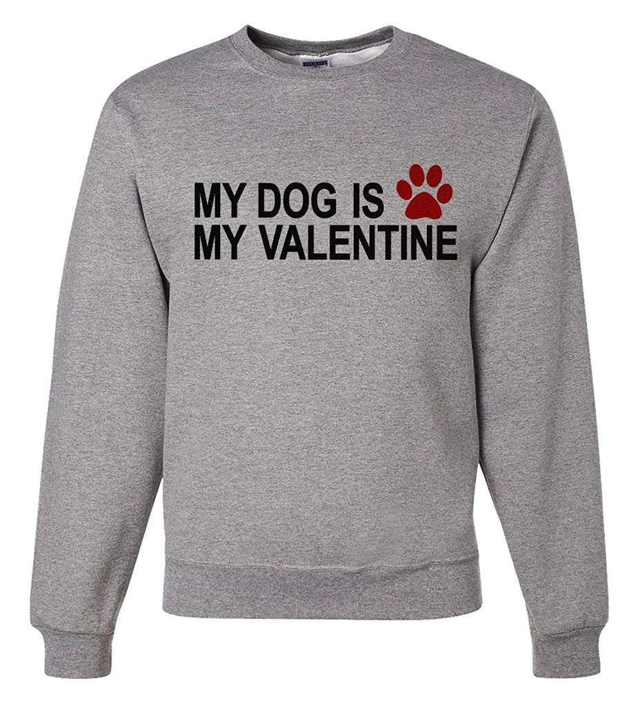 7 ate 9 Apparel Unisex Dog Funny Valentine's Day Sweatshirt