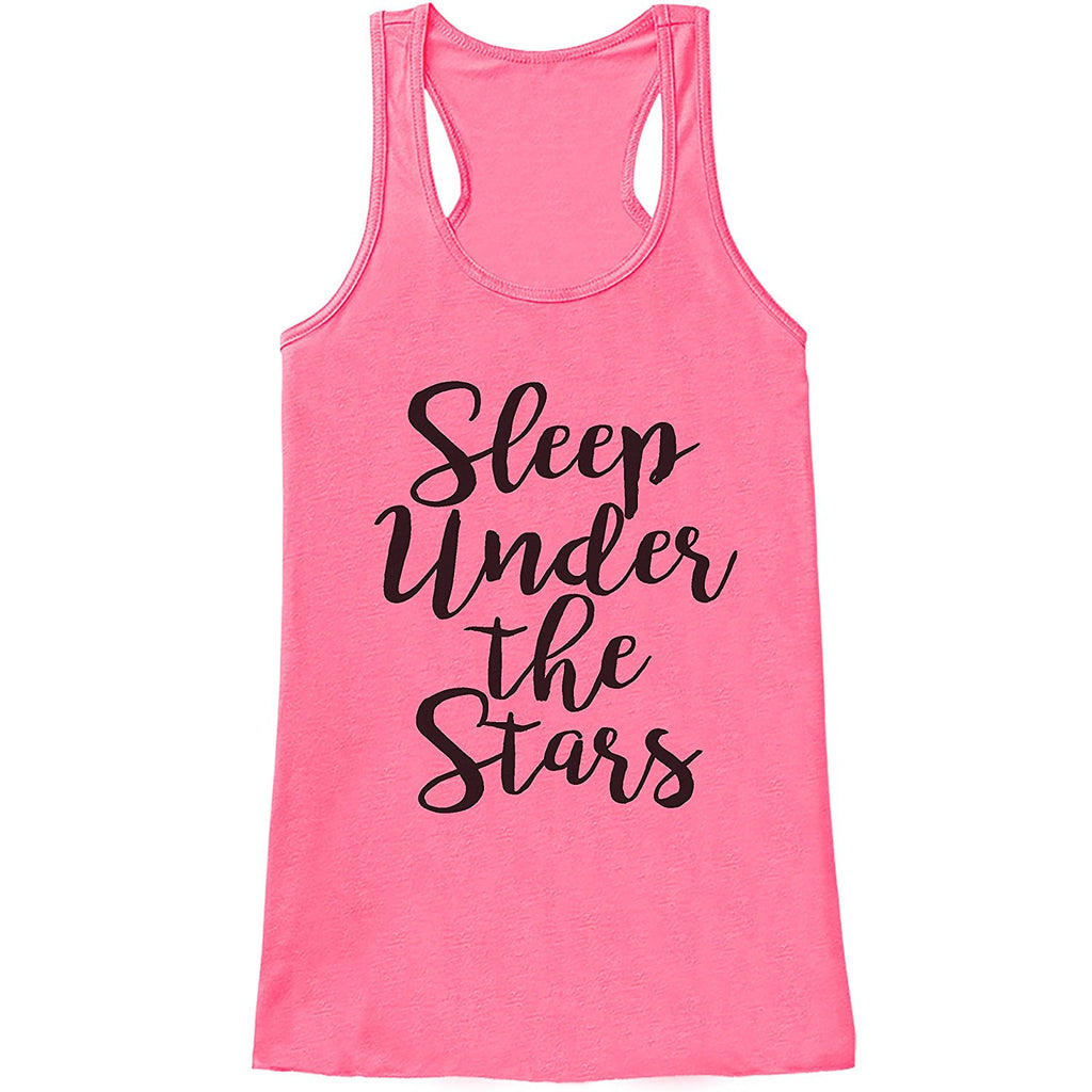 7 ate 9 Apparel Ladies Camp Under The Stars Outdoors Tank Top