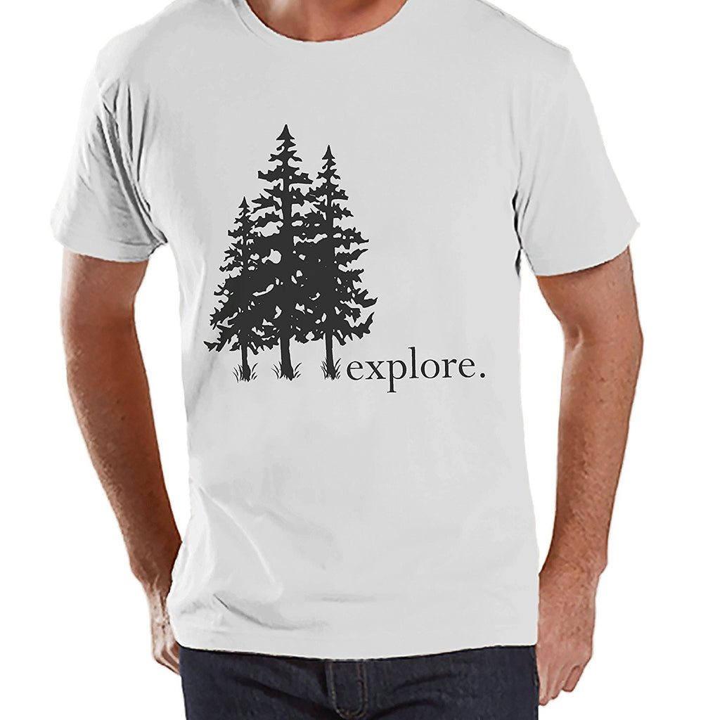 7 ate 9 Apparel Mens Explore Outdoors Raglan Tee