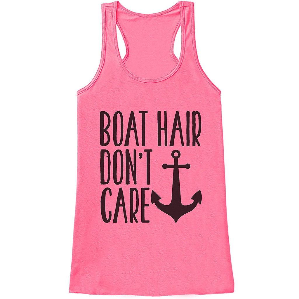 7 ate 9 Apparel Ladies Boat Hair Don't Care Summer Tank Top