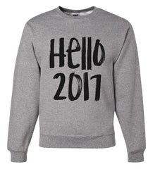 7 ate 9 Apparel Unisex Hello 2017 New Years Sweatshirt