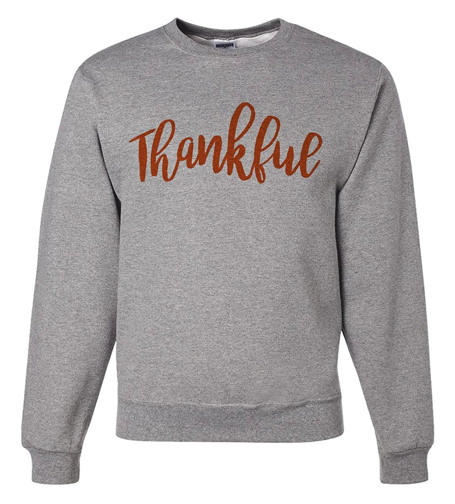 7 ate 9 Apparel Men's Thankful Thanksgiving Sweatshirt