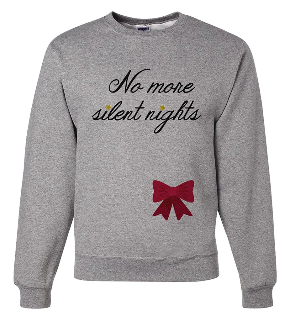 7 ate 9 Apparel Mens Christmas Pregnancy Announcement Sweatshirt