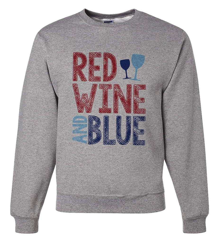 7 ate 9 Apparel Unisex Red Wine & Blue 4th of July Sweatshirt