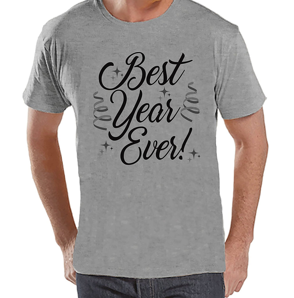 Best Year Ever - Men's Grey New Year's T-shirt
