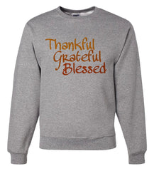 7 ate 9 Apparel Men's Thankul Grateful Blessed Thanksgiving Sweatshirt