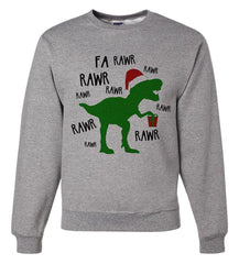 7 ate 9 Apparel Mens Dinosaur Christmas Sweatshirt