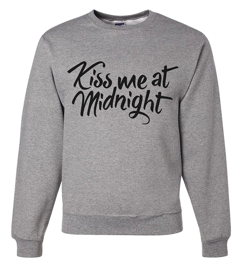 7 ate 9 Apparel Unisex Kiss Me at Midnight New Years Sweatshirt