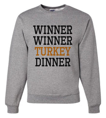 7 ate 9 Apparel Men's Winner Winner Turkey Dinner Thanksgiving Sweatshirt