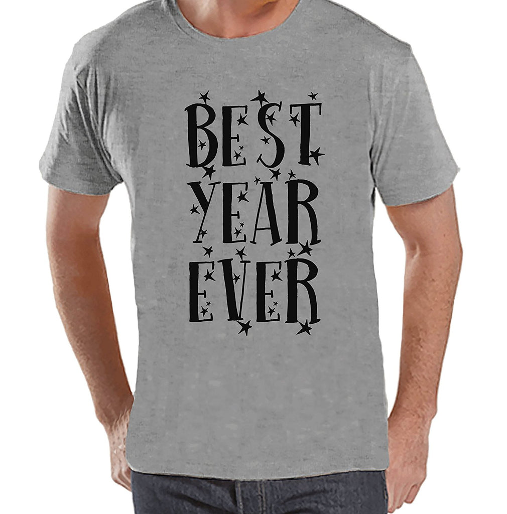 Best Year Ever - Men's New Year's Grey T-shirt