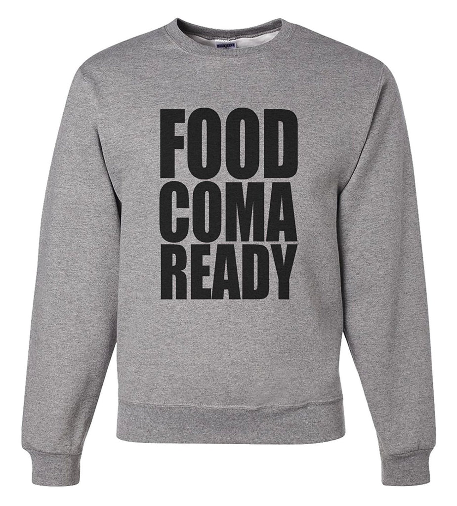 7 ate 9 Apparel Men's Food Coma Ready Thanksgiving Sweatshirt