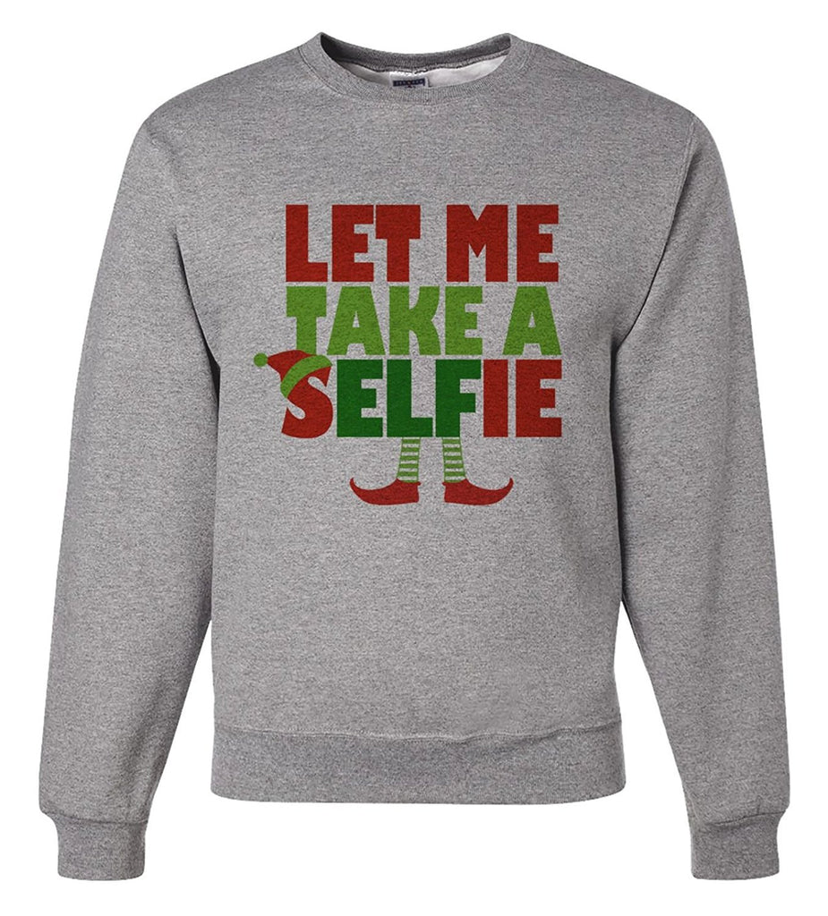 7 ate 9 Apparel Mens Selfie Christmas Sweatshirt