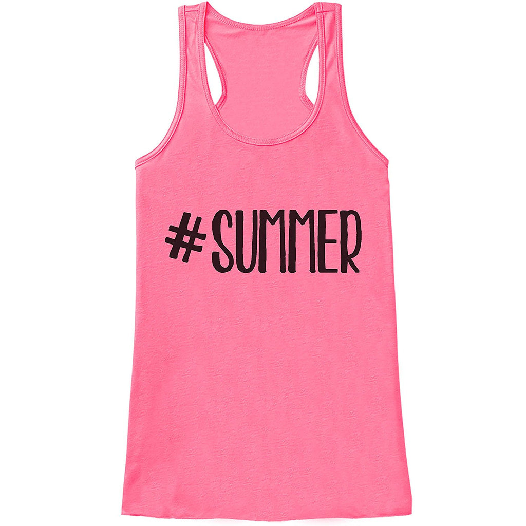 7 ate 9 Apparel Ladies Hashtag Summer Tank Top