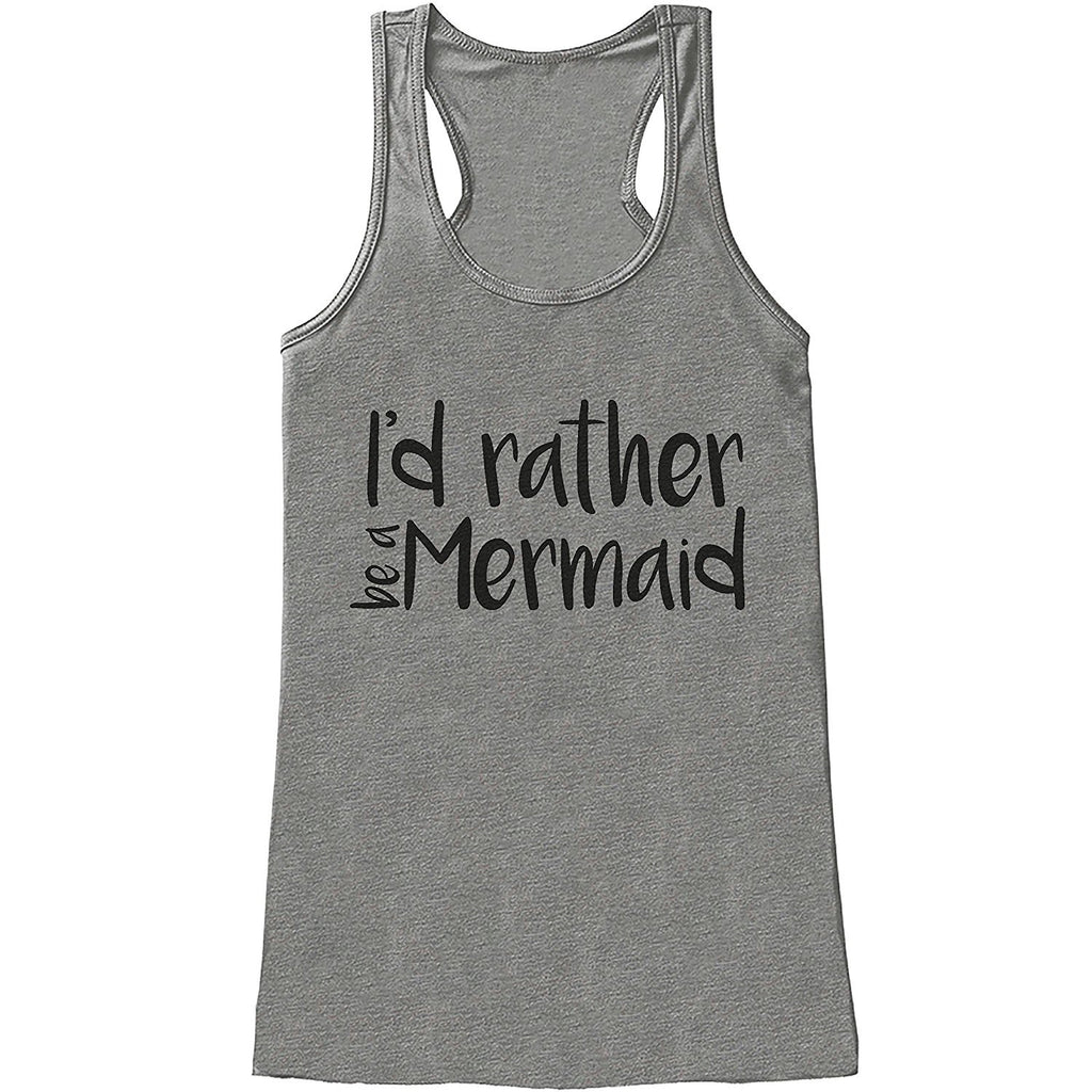 7 ate 9 Apparel Ladies I'd Rather Be a Mermaid Summer Tank Top