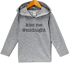7 ate 9 Apparel Baby's Kiss Me At Midnight New Year's Hoodie
