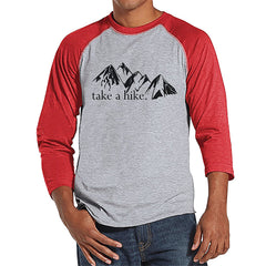 7 ate 9 Apparel Mens Take a Hike Outdoors Raglan Tee
