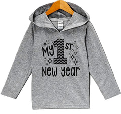 7 ate 9 Apparel Baby's 1st New Year's Hoodie
