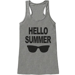 7 ate 9 Apparel Ladies Hello Summer Summer Tank Top