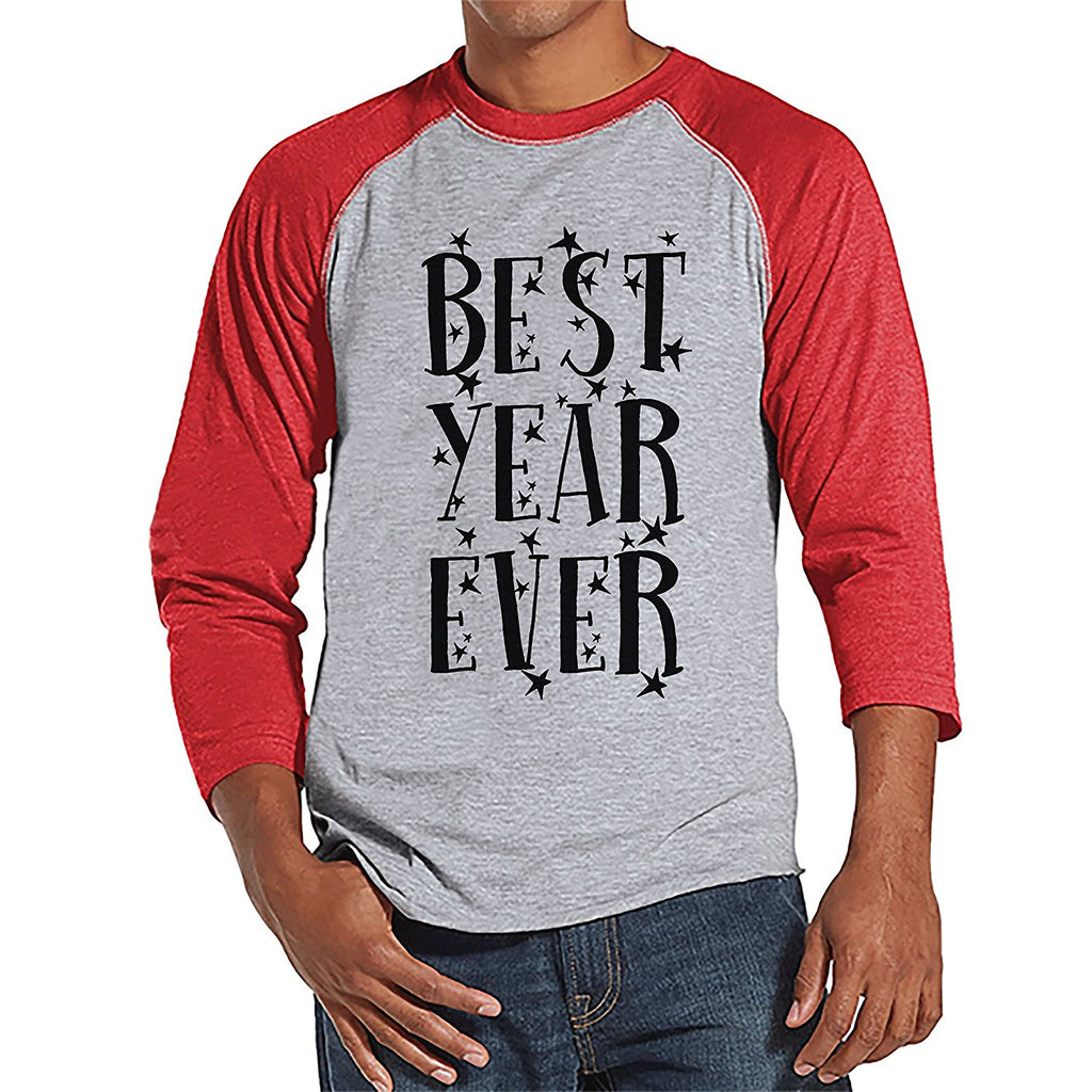 Best Year Ever- Men's New Year's Red Raglan Tee