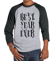 7 at 9 Apparel Men's Best Year Ever New Year's Baseball Tee