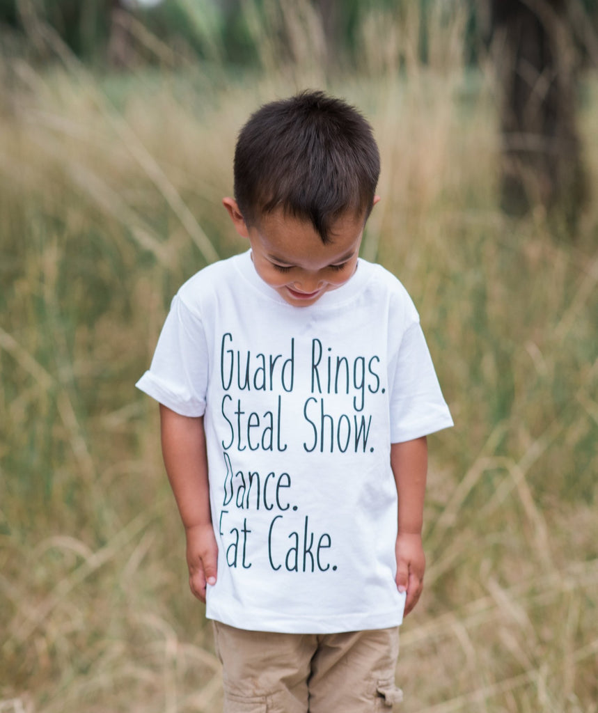 7 ate 9 Apparel Toddler Boy's Funny Ring Bearer Wedding T-shirt