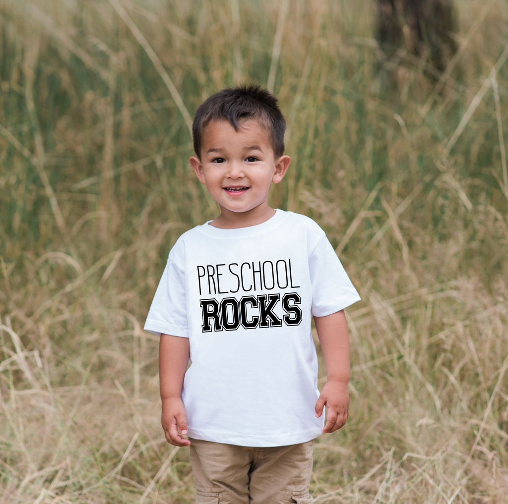 Back To School T-shirt - Kindergarten Rocks Outfit - Kids School Shirt - Girls or Boys School Top - Kindergarten Shirt - First Day of School