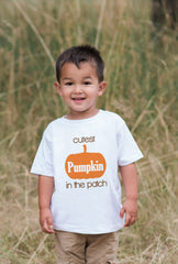 Cutest Pumpkin in the Patch Outfit - Fall Onepiece for Baby Boy or Girl - First Thanksgiving - First Halloween - Baby's First Fall Autumn