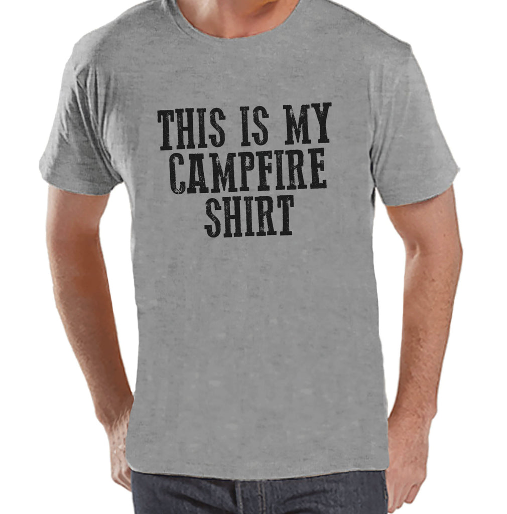 Camping Shirt - This Is My Campfire Shirt - Mens Grey T-shirt - Camping, Hiking, Outdoors, Mountain, Nature Tee - Funny Humorous T-shirt