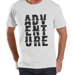 Men's Camping Shirt - Adventure Shirt - Mens White T-shirt - Men's Camping, Hiking, Outdoors, Mountain, Nature Tee - Funny Humorous T-shirt