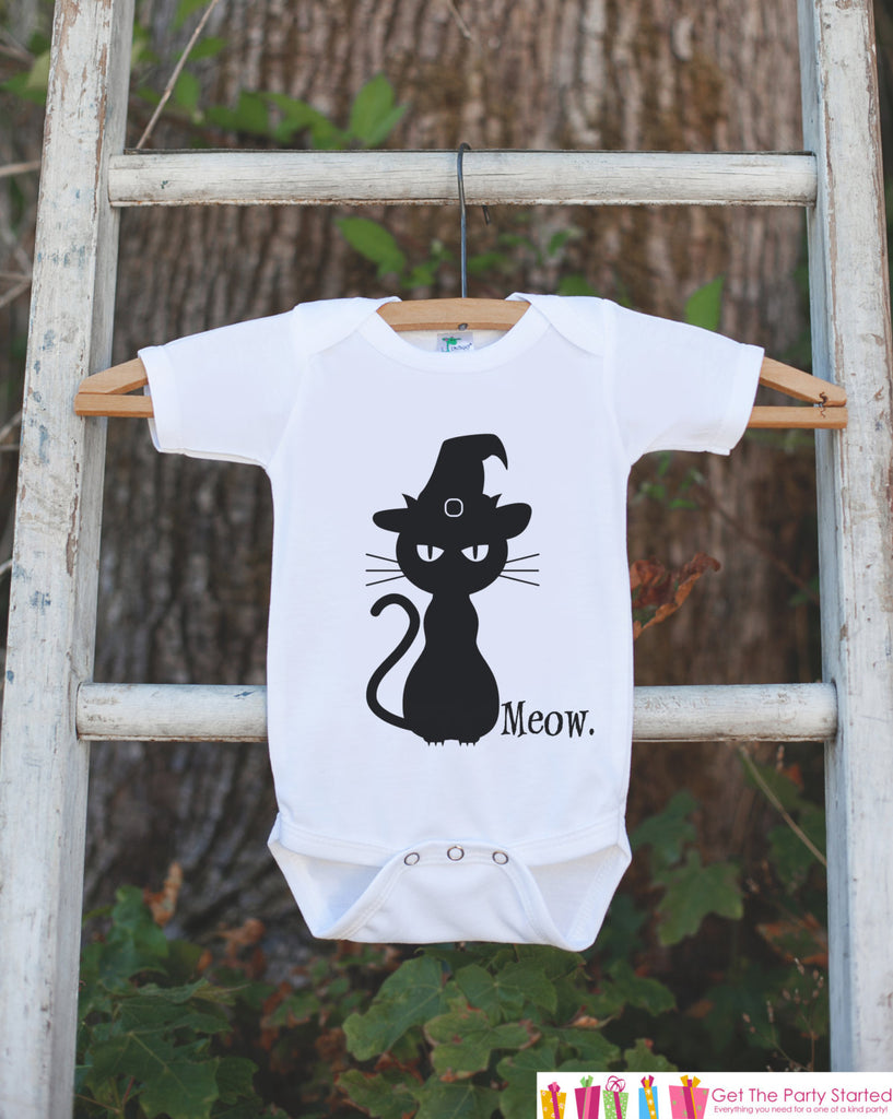 9eb4dd9f Kids Halloween Shirt - Black Cat Shirt - Meow. Cat Halloween Tshirt or – 7  ate 9 Apparel