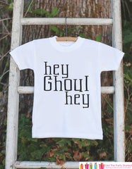 Kids Halloween Shirt - Hey Ghoul Hey Shirt - Funny Halloween Tshirt or Onepiece - Baby Boy or Baby Girl Halloween Outfit - Halloween Costume