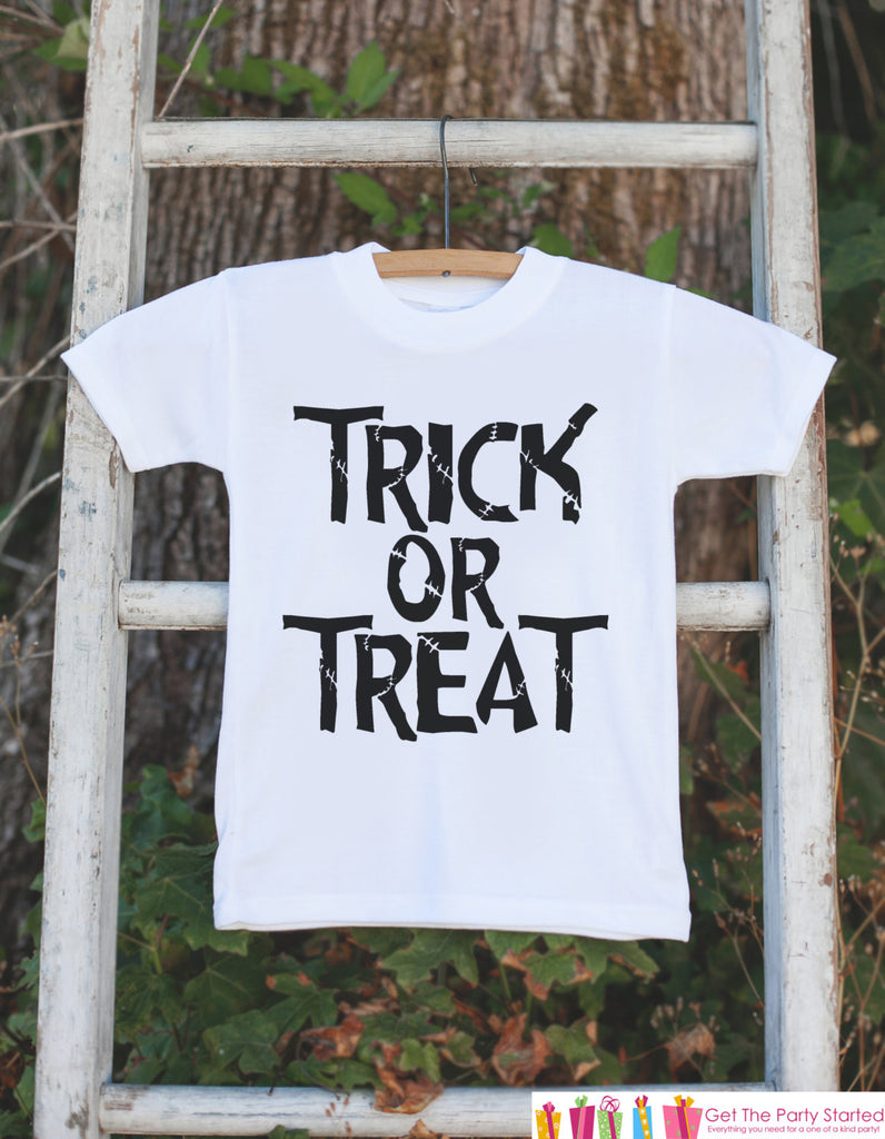 Halloween Costume Youth Trick or Treat Kids T shirts Shirts