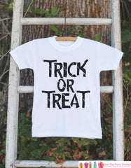 Halloween Shirt - Kids Trick or Treat Shirt - Halloween Tshirt or Onepiece - Baby Boy or Baby Girl Halloween Outfit - Halloween Costume