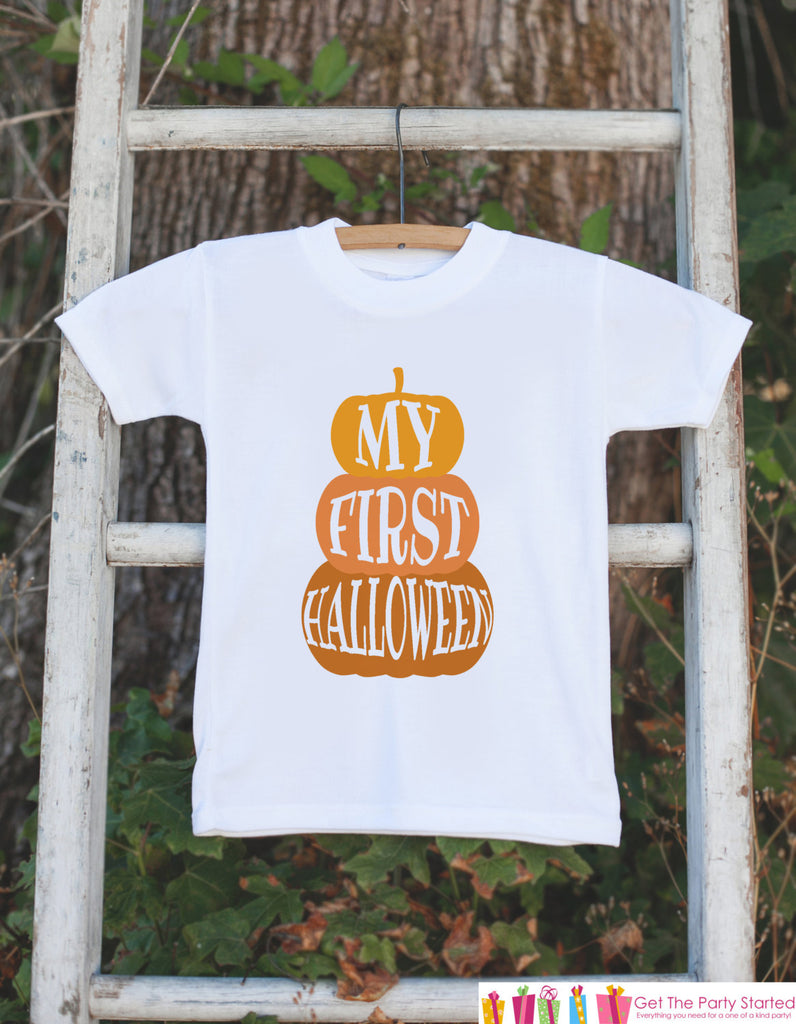 First Halloween Pumpkin Outfit - 1st Halloween Onepiece - Baby Happy Halloween Shirt - Baby Boy or Baby Girl First Halloween Outfit Shirt